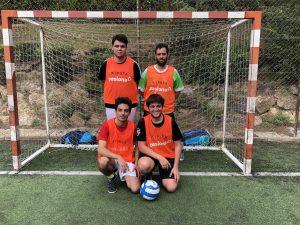 Equipo naranja de Jordi, David, Jan y Oriol